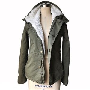 J.Crew Army Green Sherpa Lined Jacket Olive XS 2